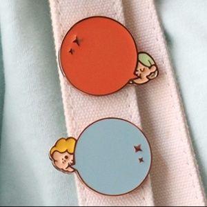 Set of 3 Bubble Gum Brooch Pins